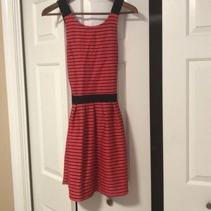 Candie's  criss cross striped dress-worn once